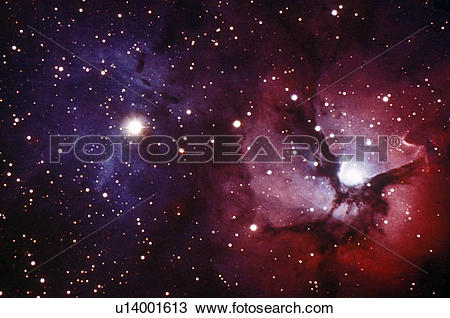 Stock Photo of Trifid Nebula M22 in the constellation Sagittarius.
