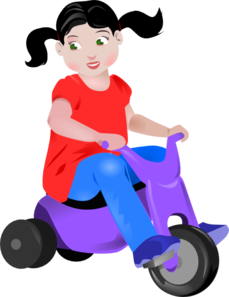Toddler On Trike Clip Art at Clker.com.
