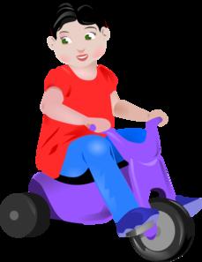 Toddler On Trike Clip Art at Clker.com.