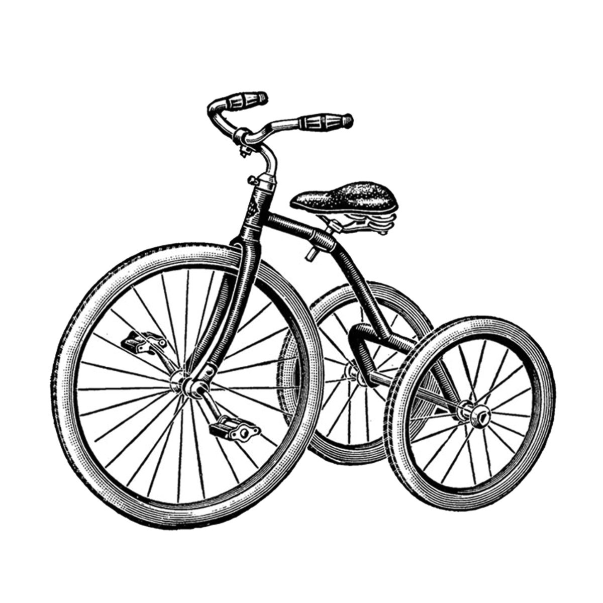 Tricycle clipart black and white 7 » Clipart Station.