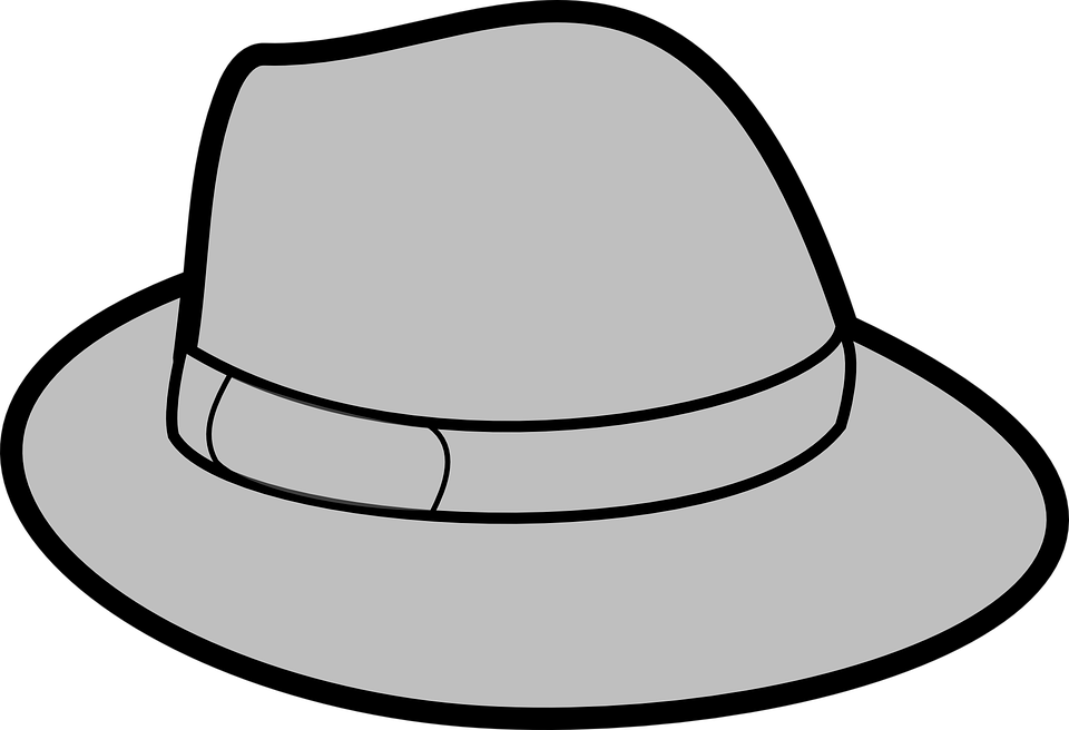 Free vector graphic: Hat, Grey, Gray, Trilby, Headwear.