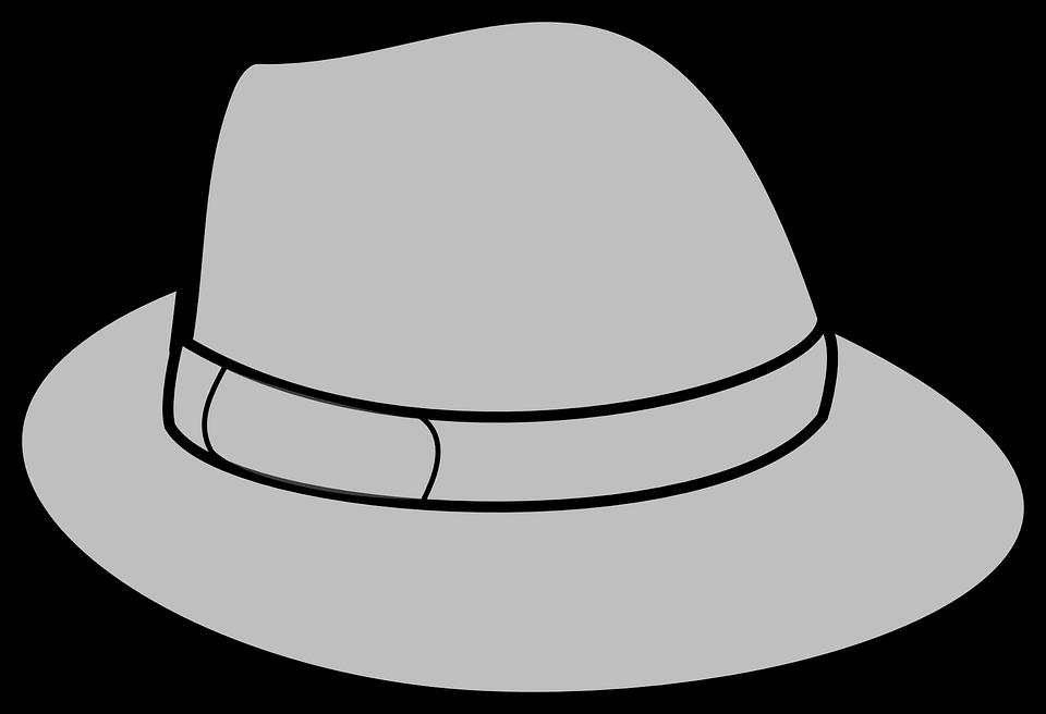 Free vector graphic: Hat, Grey, Gray, Trilby, Headwear.