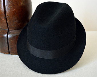 Trilby hat.