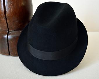 Trilby hat.