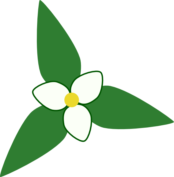 Trillium Map Symbol Clip Art at Clker.com.