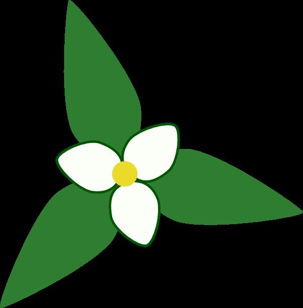 Trillium Map Symbol Clip Art at Clker.com.