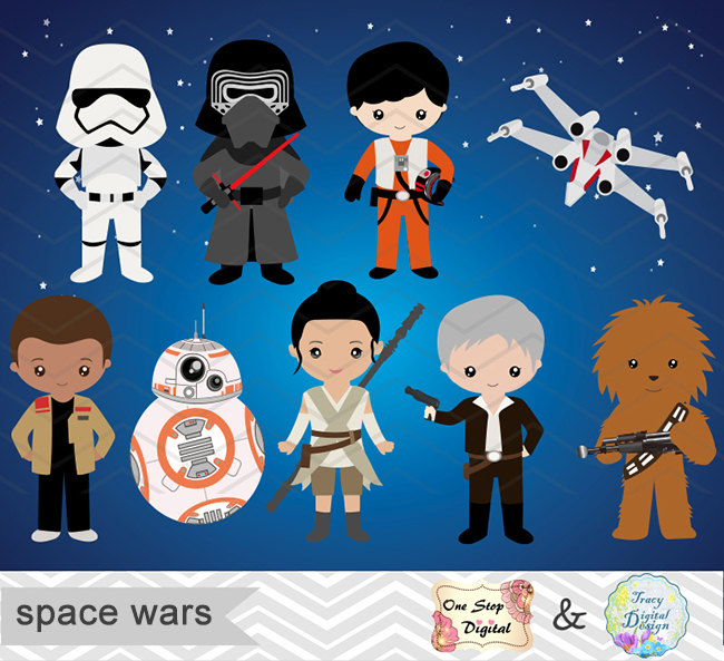 Star wars trilogy clipart.