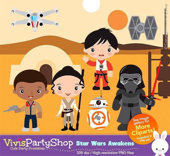 Star wars trilogy clipart.