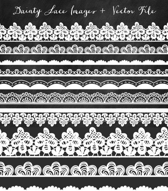 Lace trim clipart.