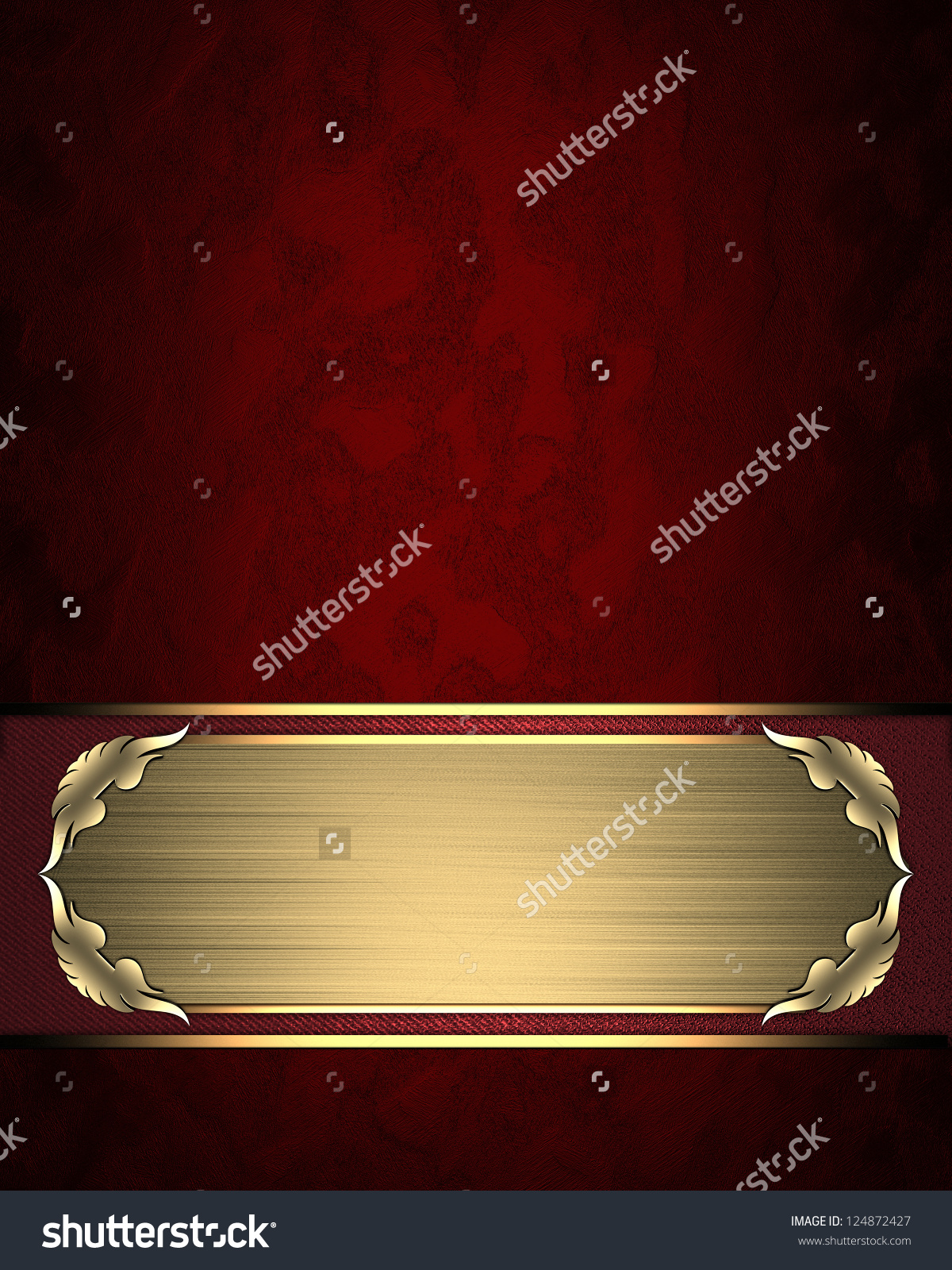 Design Template Red Texture Gold Name Stock Illustration 124872427.