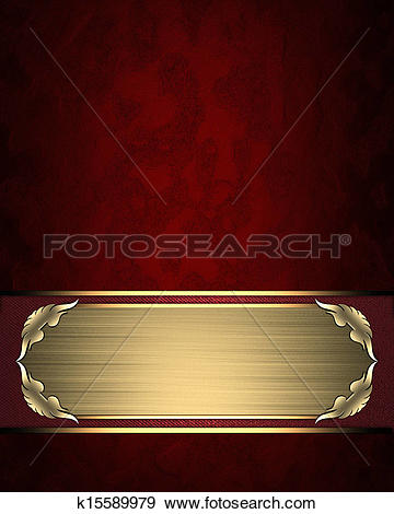 Clipart of Golden texture with gold name plate with gold trim.