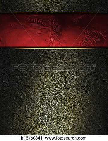 Clipart of Black background with gilding and red plate with gold.
