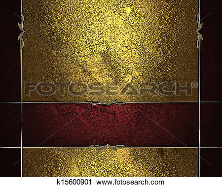 Clipart of Black background with gold edges and beautiful plate.