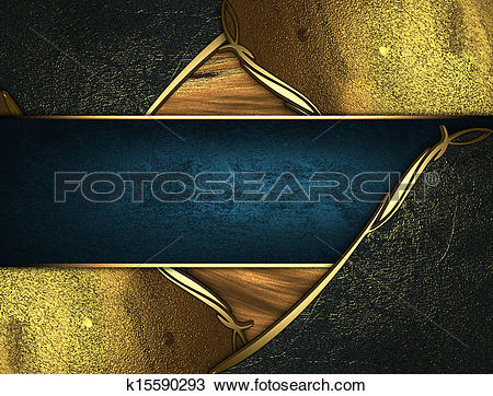 Drawing of Gold texture with golden and black edges gold trim and.