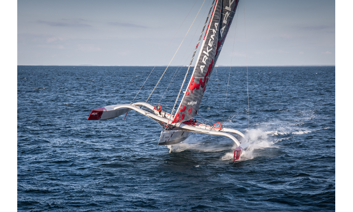 The Arkema Multi50 trimaran, built for performance.