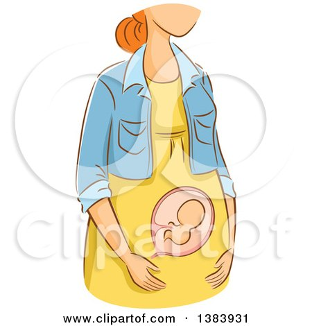 Clip Art Baby in Its First Trimester.