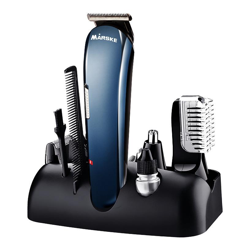 MARSKE 5 in 1 Multifunctional Electric Hair Clipper Nose Hair Trimmer Beard  Rechargeable Epilator.