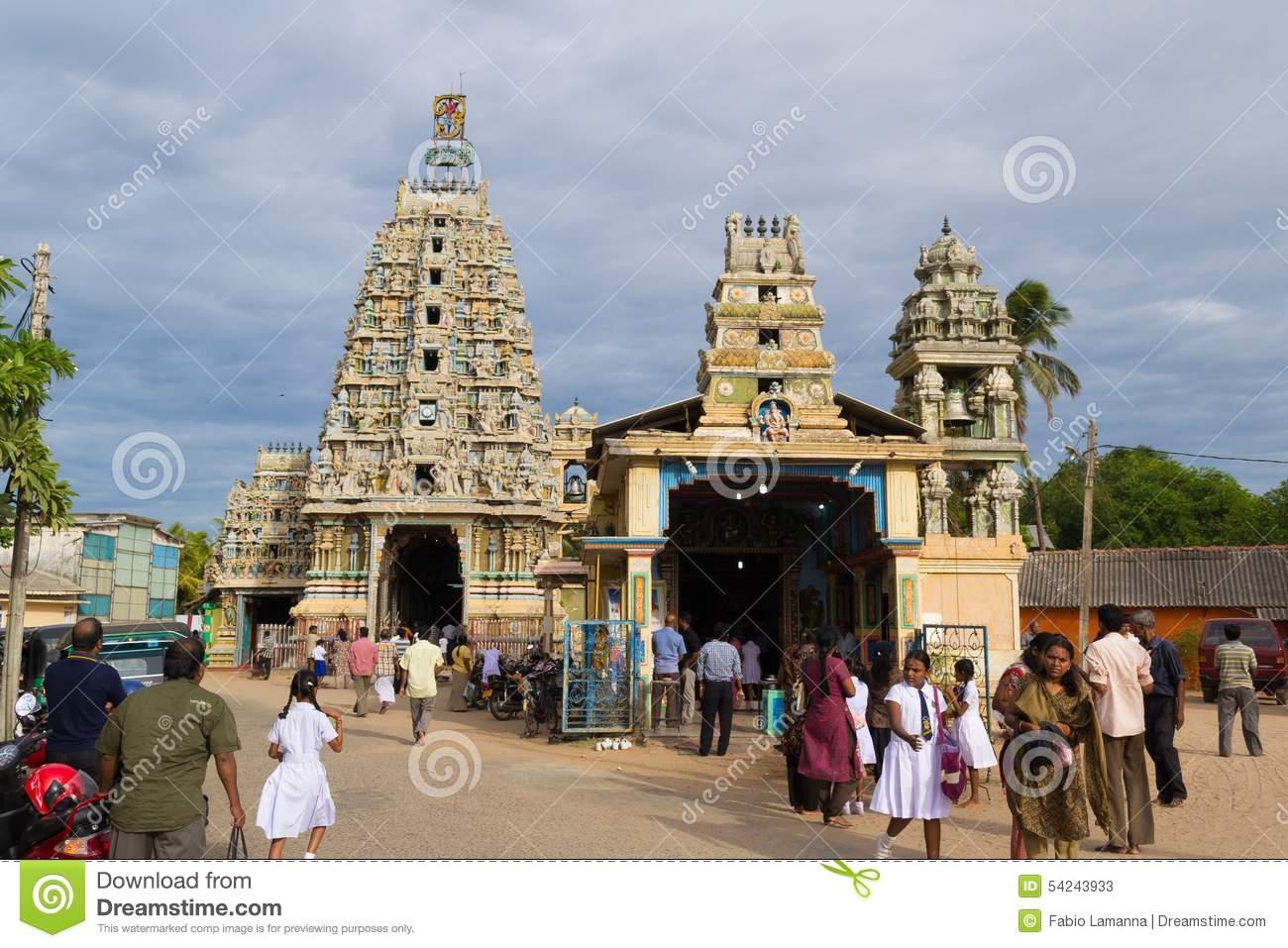 Hindu Temple In Trincomalee, Sri Lanka Editorial Stock Photo.