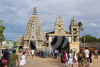 Hindu Temple In Trincomalee, Sri Lanka Editorial Stock Photo.