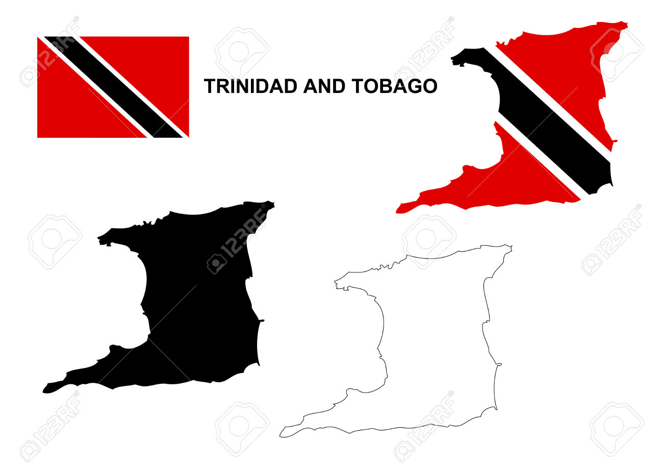 Trinidad and tobago map clipart.