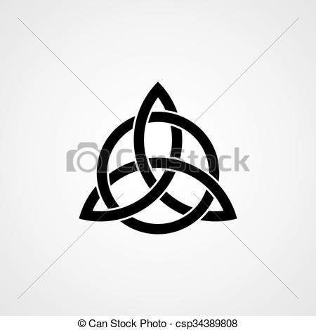 Clipart vettoriali di celtico, trinità, nodo, vettorecsp34389808.