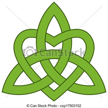 Clipart vettoriali di celtico, trinità, nodo, (triquetra.