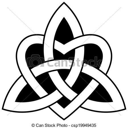 Vettori di celtico, trinità, nodo, (triquetra).