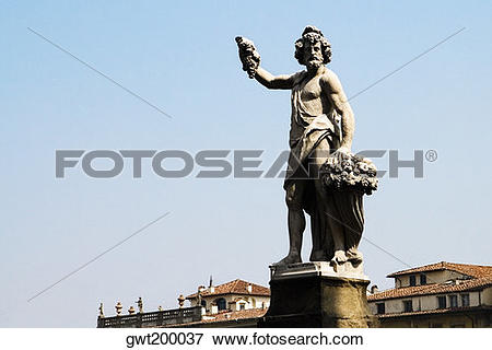 Picture of Low angle view of a statue, Ponte Santa Trinita Bridge.