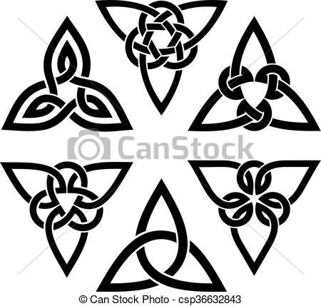 Vettore EPS di celtico, set, trinità, nodo.