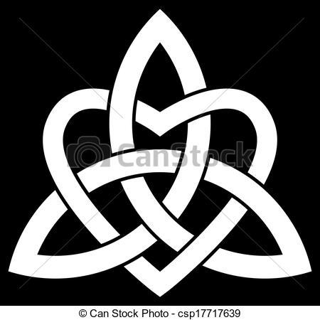 Vettori di celtico, triquetra, trinità, nodo.