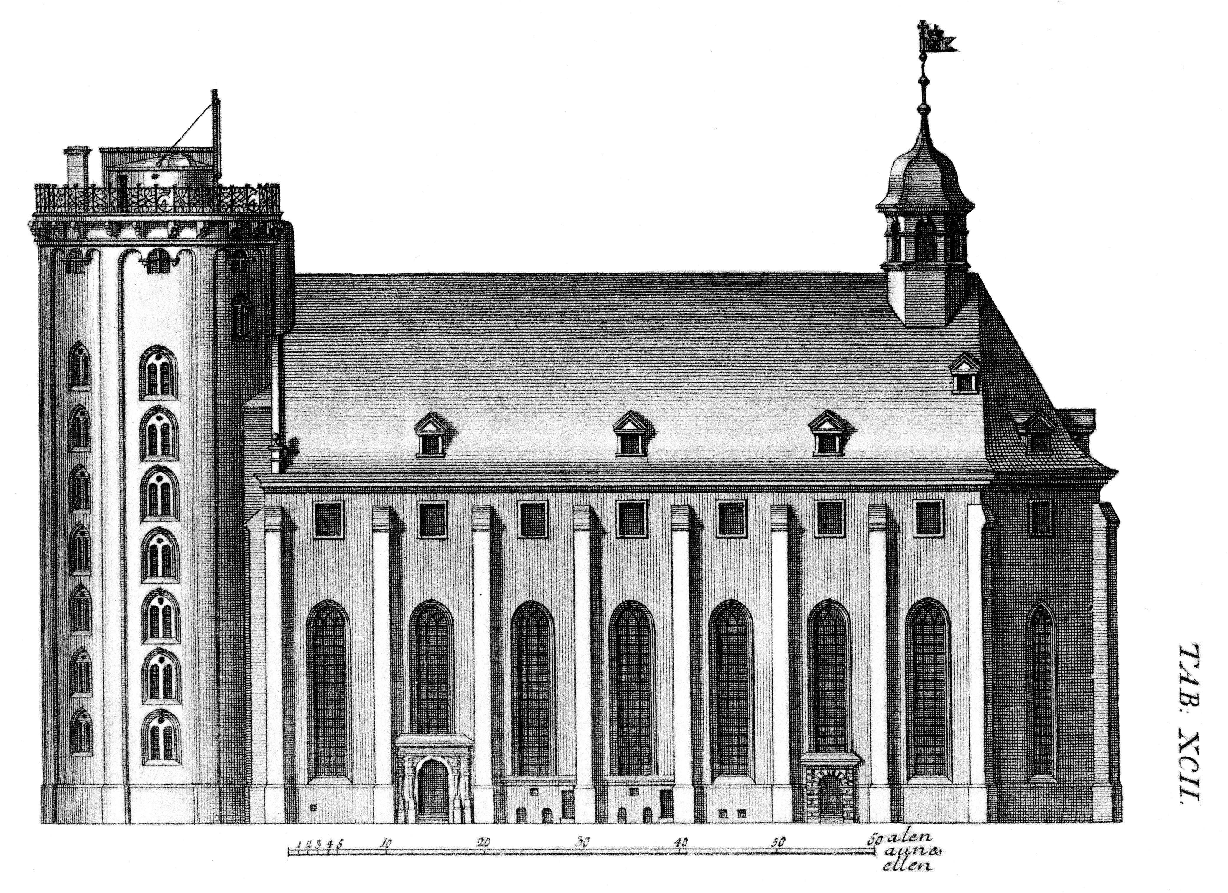 Trinitatis Church, Copenhagen, Denmark.
