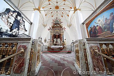 Altar Of The Trinitatis Kirke Stock Photo.
