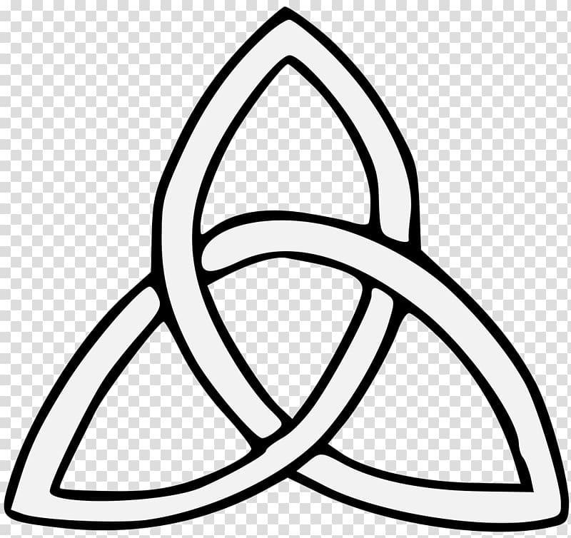 Celtic knot Triquetra Symbol , knot transparent background.