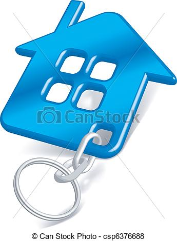 Vector of Trinket house blue.