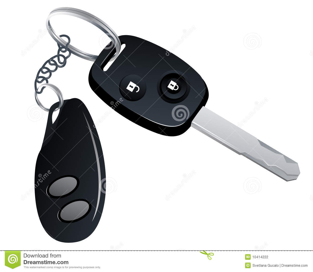Car Key Clipart Car Key With Trinket #oY93sM.