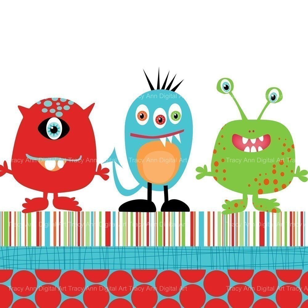 Baby Monsters Inc Clip Art Monster Trio Clip Art And #wiEnSV.