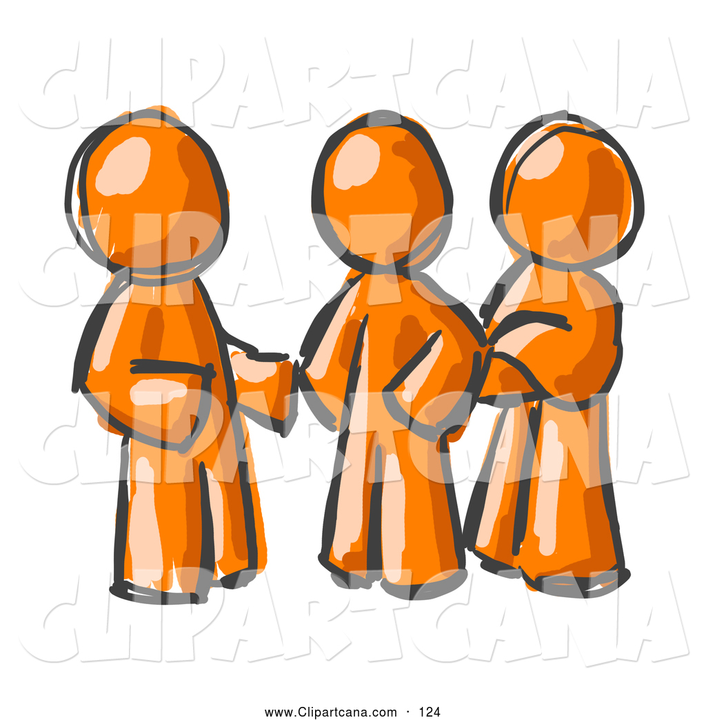 Clip Art of a Trio of Painted.