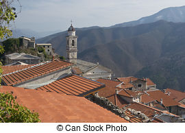 Pictures of Montalto Ligure, village in Argentina Valley.