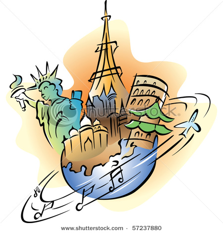 Travel around the World Clip Art.