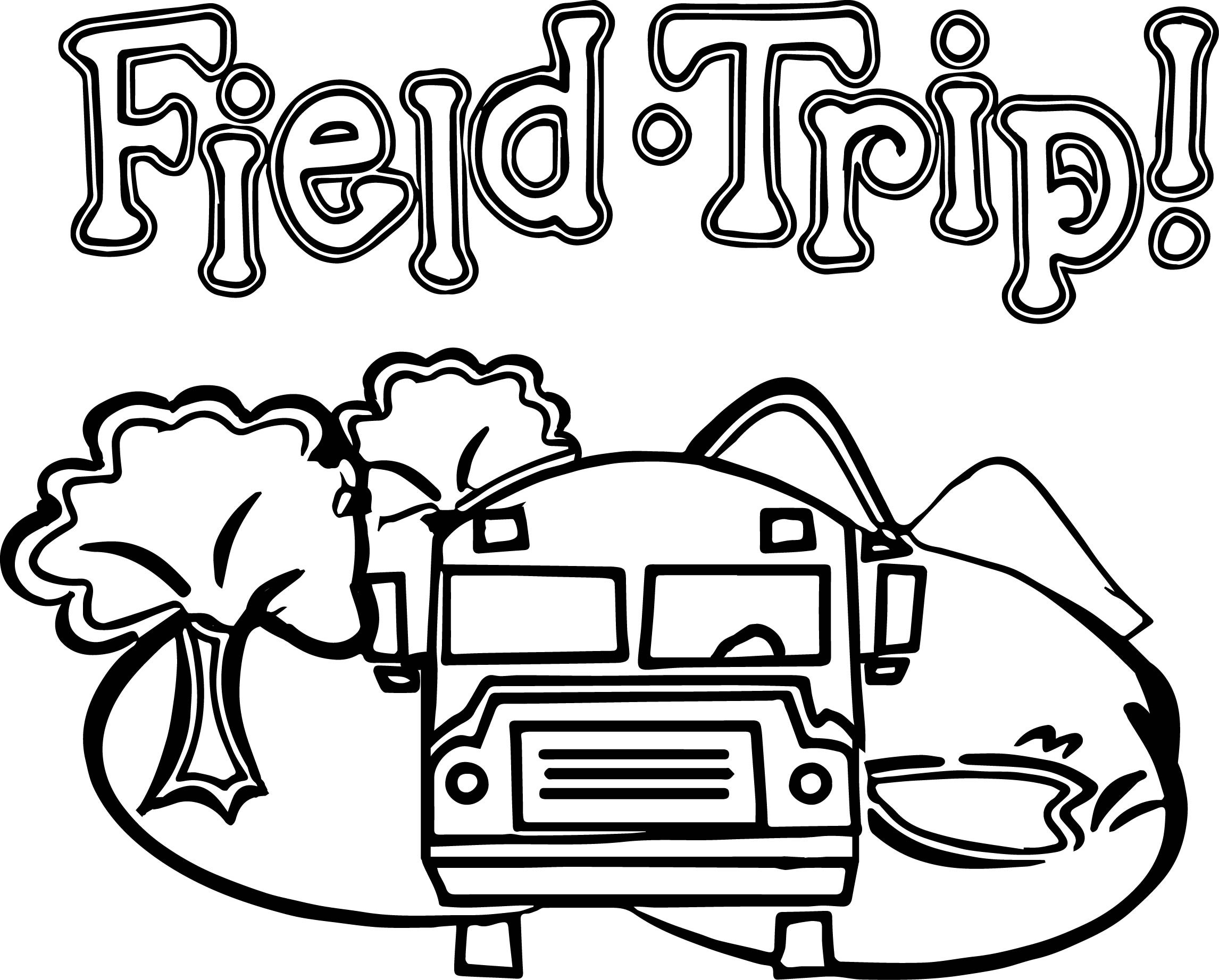 Field Trip Clipart Black And White.