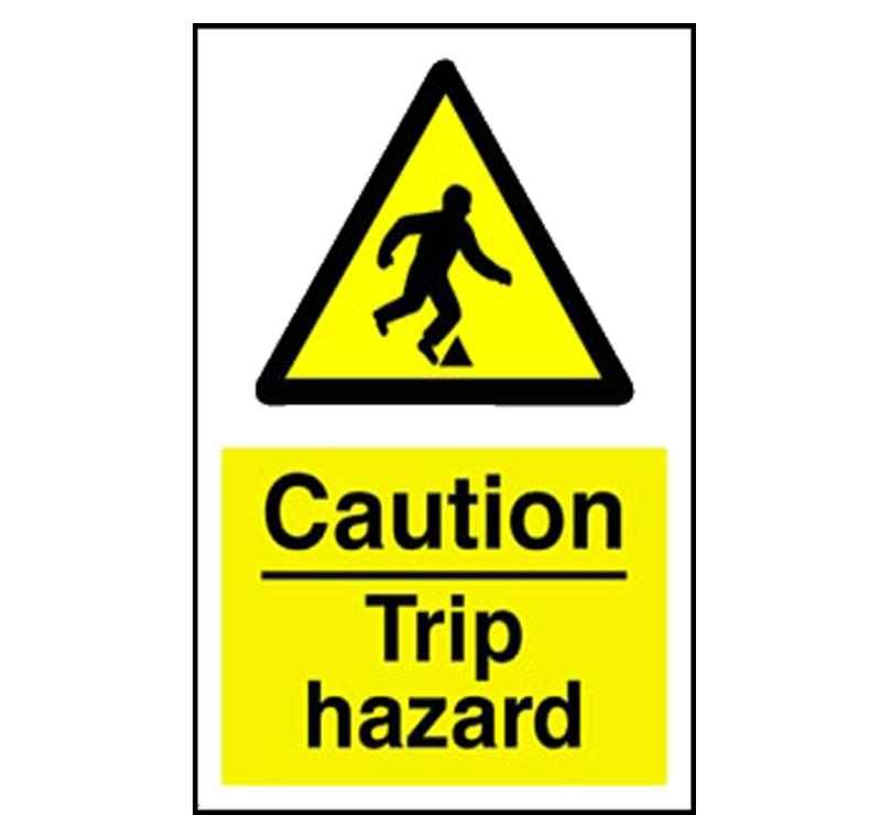 Showing post & media for Trip hazard symbol.