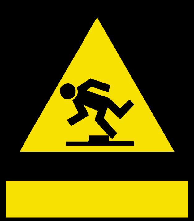 Trip Hazard Symbol.
