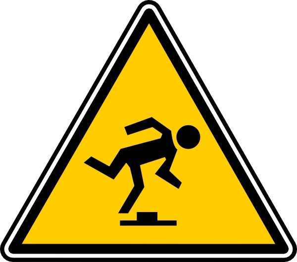 Tripping Hazard clip art Free vector in Open office drawing svg.