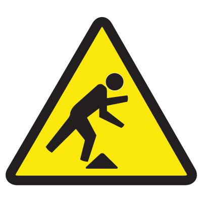 Showing post & media for Trip hazard symbol.