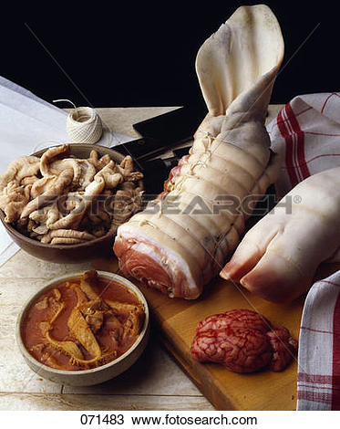 Stock Photo of Tripe products 071483.