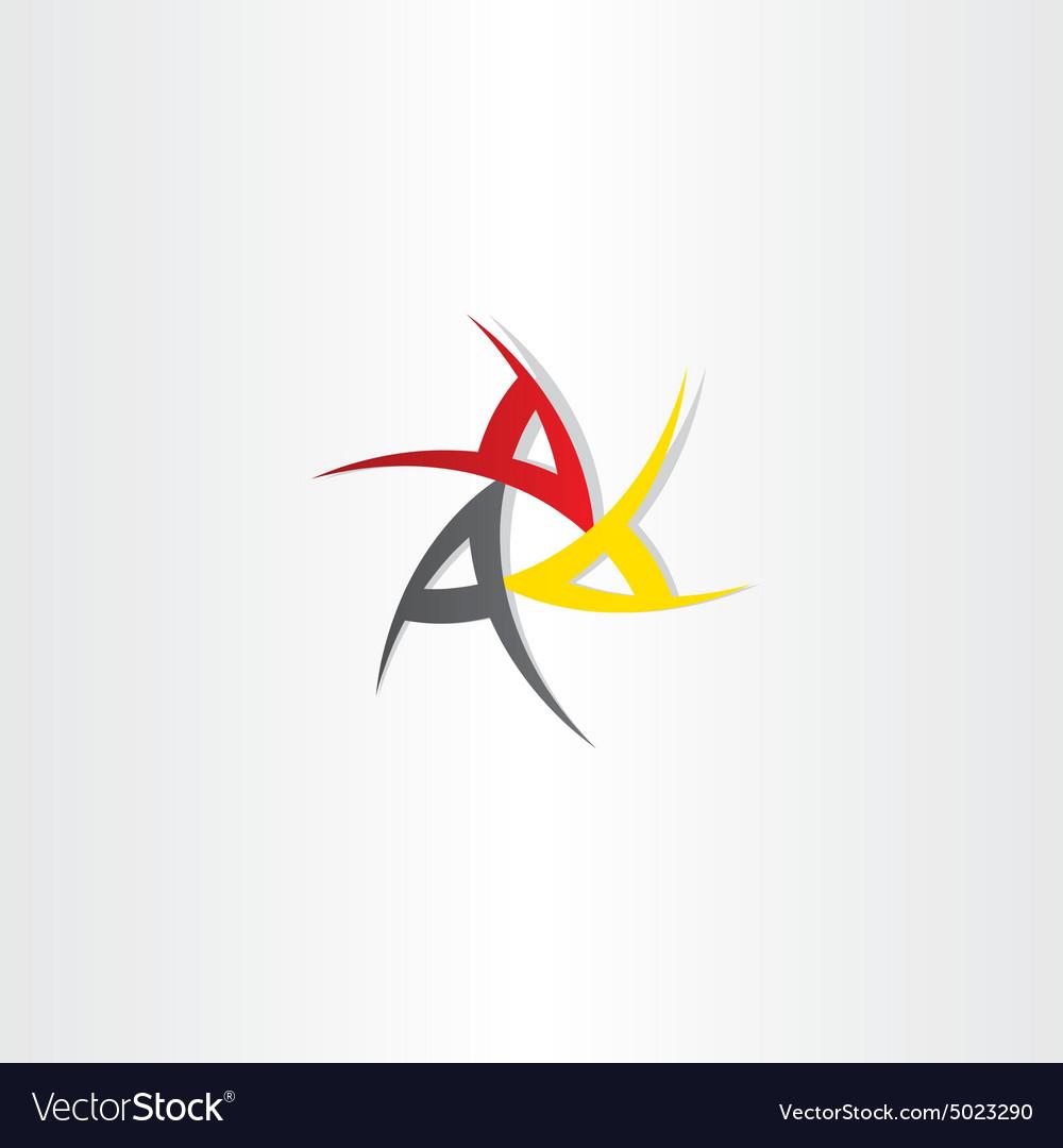 Triple a symbol design.