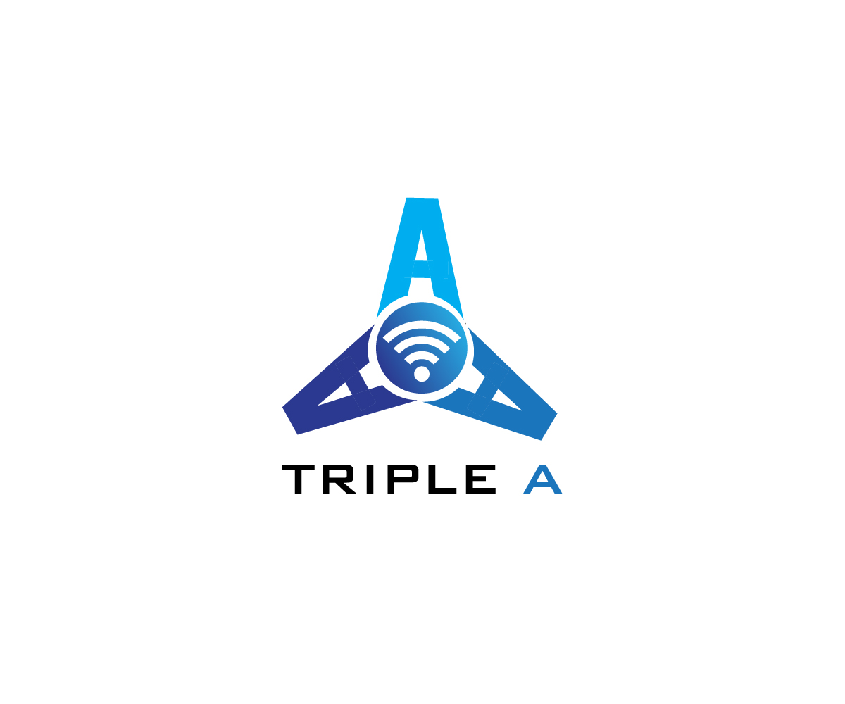 Professional, Upmarket, It Company Logo Design for Triple A.
