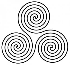 Triple Spiral Symbol Clip Art Download.