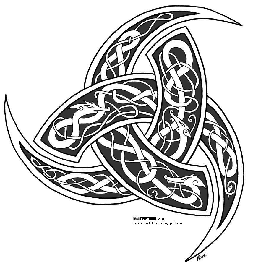 The Triple Horn of Odin is a stylized emblem of the Norse.