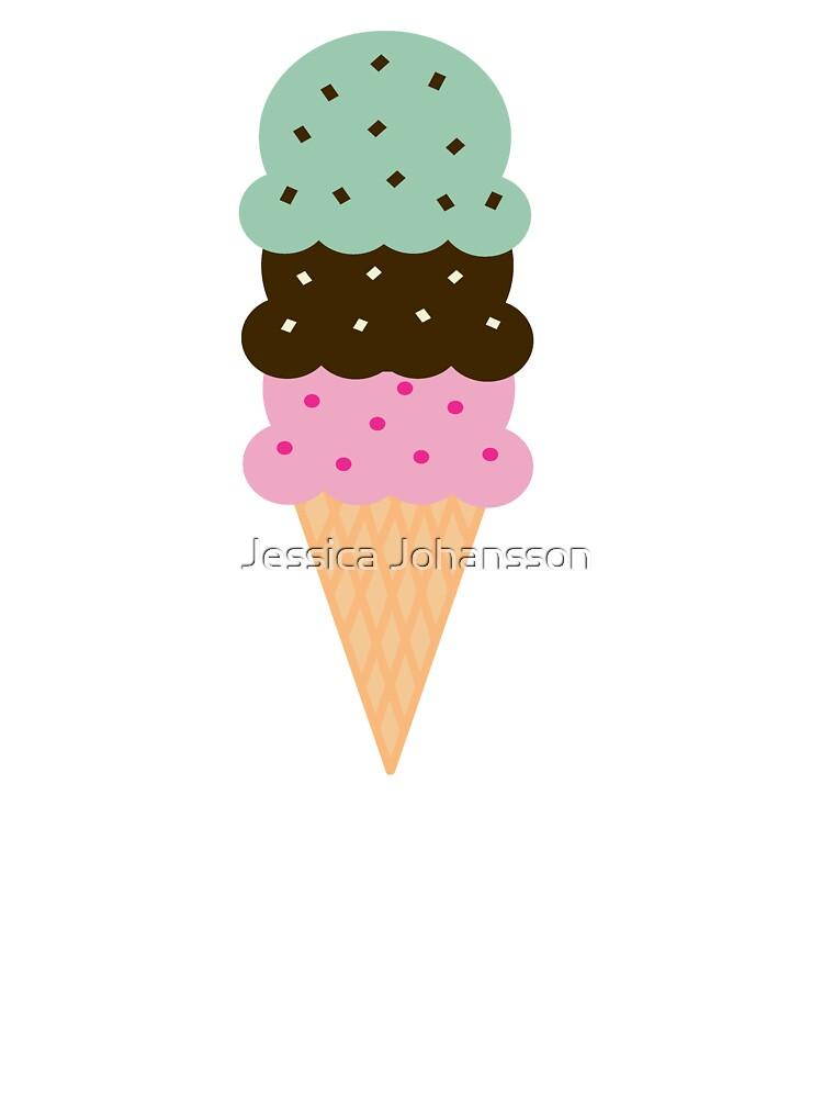 Triple Scoop Ice Cream Cone.